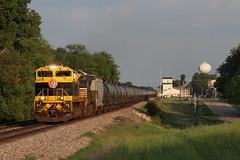 NS 1069 Take 2 (CC 8039) Tags: ns cn ic cc trains sd70ace c408w 1069 virginian heritage unit lena illinois sunset