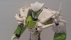 RaptorTalon: (V15) (RaptorTalon) Tags: lego hero factory bionicle white black green clear sword shield moc robot figure model