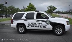 New Jersey State Park Police Tahoe (nyfrp) Tags: new jersey nj nyc york police car fpiu fpis ford explorer taurus transit park command cetner tahoe chevy liberty state manhattan world trade center freedom tunnel hoboken terminal path