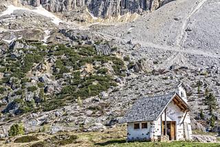 Dolomites...Chiesa Passo Falzarego...explored