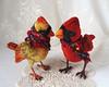 Cardinal bird toys by Alina Biliakova (CityPlush, Alina Biliakova) Tags: cardinalbirdtoys realisticcardinalbirdtoys alina biliakova cityplushextile birdhandstitched birdanimaltoyshandmadeooak pure sculptooakcompletely hand sewncollectable handmade toysartist тoys handmadegifts