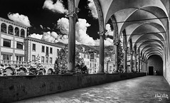 Bobbio (nicolamariamietta) Tags: bobbio architecture bw blackandwhite romanic medieval sonya7 ilce7 street photography perspective clouds buildings architectural daylight