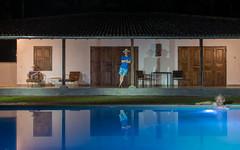 Experiment (Anselm11) Tags: simmingpool doppelbelichtung mehrfachbelichtung hut nachtaufnahmen mehrfach swimming pool