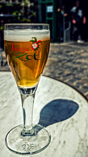 A Refreshing Glass of Zot ( Half Moon Brewery - Bruges)  ( Fujifilm X70 Compact) (1 of 1)