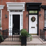 Black and white doorways, West 11th Street, Greenwich Village, New York thumbnail