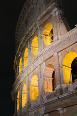 043 (JirkaVorel) Tags: rome italy europe city colosseum architecture stone wall monument roma amphitheater flavian italie stonework night