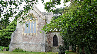 St. Mary's Church in June 2018, on Brownsea Island, Poole Harbour, Poole, Dorset. England.
