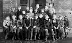 Class Photo (theirhistory) Tags: boys kids girls jumper coat jacket shoes wellies boots