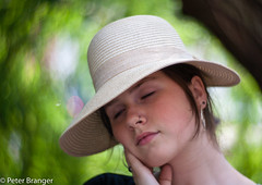 Please let me dream.... (Peter Branger) Tags: smileonsaturday hatsandco hat portrait bokeh outdoor canoneos5d lomography newpetzval
