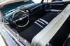 Black, white, and chrome (GmanViz) Tags: gmanviz color car automobile vehicle detail interior seats dashboard steeringwheel seatbelts 1964 cadillac 4door hardtop pillarless nikon d7000