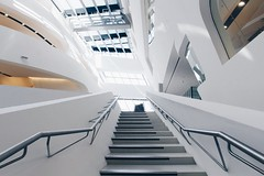Agricultural Photography of Gray Metal Stairs (2kreviews) Tags: architectural design architecture building ceiling contemporary futuristic glass items windows indoors inside lights low angle shot modern stairs steel steps urban white royalty free images