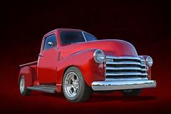Red Hot Chilli Pepper - 1952 Chevy Pickup (Brad Harding Photography) Tags: 1952 52 chevrolet chevy truck pickup utility antique chrome restoration restored cruisenight carshow olathe kansas familyleisurestore chillipepper redhot