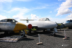 Jet Age Museum, Gloucestershire Airport, Staverton, Gloucestershire (Kev Slade Too) Tags: gloster meteor hawkersiddeley harrier jetagemuseum gloucestershireairport staverton egbj gloucestershire