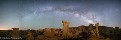 Alien Throne under the Milky Way (OJeffrey Photography) Tags: bistibadlands nightsky nightscape starscape milkyway stars alienthrone nm newmexico panorama pano ojeffreyphotography ojeffrey jeffowens nikon d850