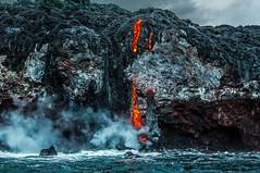 Kilauea lava flows to the ocean. 2013. (Krokozund) Tags: hawaii kilauea eruption lava flow ocean volcano usa