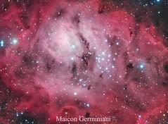 Messier 8 Lagoon Nebula (maicongerminiani) Tags: ts115 teleskop ts teleskopservice triplet telescope tsapo lagoon lrgb laggon astrometrydotnet:id=nova2631734 astrometrydotnet:status=solved