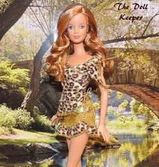 """"""" The Call of the Wild""""🐆🐆🐆 (The doll keeper) Tags: mackie face mold curls redhead leopard barbie doll"""