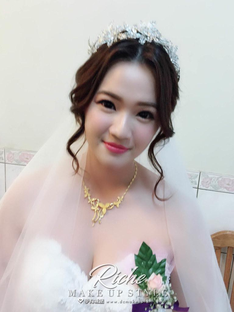 【新秘RICHE】bride子華 結婚造型 / 台中自宅