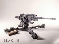 "Hanz's weapon that makes the allies go ""avay"". It's a Flak 88. (-=Spectre=-) Tags: 2 war world ww2 antitank gun lego flak88"