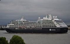 Azamara Journey (4) @ Gallions Reach 18-06-18 (AJBC_1) Tags: riverthames cruiseship gallionsreach london ©ajc dlrblog boat vessel ship cruiseliner passengership transport transportation shipping ukshipping england unitedkingdom uk liner northwoolwich eastlondon newham londonboroughofnewham passengerliner ajbc1 nikond5300 greatbritain gb shipsinpictures stormclouds