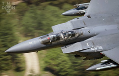USAF F-15 Eagle down low (The Don Photography) Tags: aviation aviationphotographer aviationphotography avgeek avporn cockpit close up speed fast jet aircraft wales welsh america american war training sortie murica loaded armed military usa canon camera photography 492 fighter squadron bomb