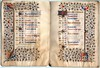 BOOK OF HOURS FOR THE USE OF BESANÇON Ref 523 f.5v and f.6r (RMGYMss.) Tags: besançon useofbesançon easternfrance france french bookofhours medieval illuminated manuscript medievalmanuscript illuminatedmanuscript hoursofthevirgin calendar september october