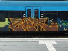 ZAK (mkorsakov) Tags: münster hbf bahnhof mainstation graffiti train zug rb66 westfalenbahn zak