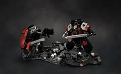 Ezekyle Abaddon fateful duel (Faber Mandragore) Tags: lego moc sci fi mecha powersuit warhammer 40k wh40k space marine terminator chaos ezekyle abaddon duel horus heresy forge world faber mandragore fabermandragore