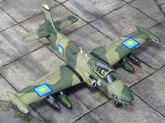 "1:72 BAC 168 ""Bushmaster"" GA1; aircraft ""(MA13-)43"" of the Royal Malaysian Air Force (Tentera Udara Diraja Malaysia/TUDM) 6th Squadron; Kuantan AB, Pahang/West Malaysia; 1978 (Whif/Kitbashing) (dizzyfugu) Tags: 172 bac british aircraft corporation hawker hunter strikemaster bushmaster cas attack kitbash matchbox modellbau kit model conversion fictional aviation malaysia tudm sneb"