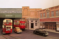 Station entrance (kingsway john) Tags: londontransportmodel tram tramway 176 scale oo gauge diorama layout stl double deck woolworths wwmd kingsway models card kit