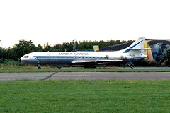 F-WQCU   Sud Aviation SE.210 Caravelle 11R [251] (Eureka Aviation) Kortrijk-Wevelgem~OO 01/09/1996 (raybarber2) Tags: 251 abpic airliner airportdata approachtodo cn251 cancelled ebkt flickr frenchcivil fwqcu print writtenoff