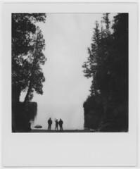 (28.dans.later) Tags: polaroid sx70 polaroidoriginals bw monochrome friends lakesuperior presqueisle marquette michigan