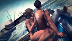 #190 on your back ....... (ЙёКσ (nyanko33)) Tags: creative beautifulscene secondlifephotographer virtualavatar sl secondlife slblogger style pose fashion couple love summer beach