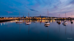 Lights On (Dave Lord Photography) Tags: blue hour sky boats harbour water yachts lights buildings reflections sunset longexposure reflection refelection clouds david davidlord dublin dublinireland ireland canon canoneos canon70d 70d dun laoghaire