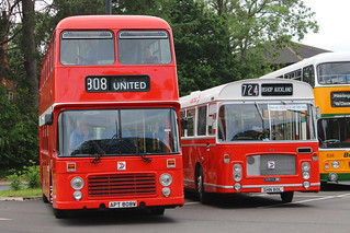 UNITED 808 APT808W AND 6080 SHN80L ARE SEEN AT HOWLANDS PARK & RIDE, DURHAM ON 17 JUNE 2018
