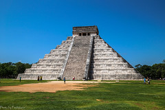 Pyramid of Kukulkan / Пирамида Кукулькана (Vladimir Zhdanov) Tags: travel mexico sky yucatan maya chichenitza pyramid ancient architecture people forest tree grass