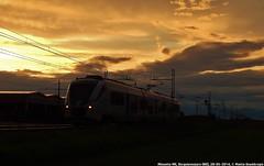 Minuetto ME al tramonto (MattiaDeambrogio) Tags: minuetto elettrico me ale501 ale502 le220 tramonto sunset borgolavezzaro trenitalia