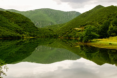 reflections.. (ckollias) Tags: ladonlake beautyinnature cloudsky day greencolor idyllic lake lakeview mountain mountainrange nature nopeople nonurbanscene outdoors plant reflection scenicsnature sky tranquilscene tranquility tree water waterfront