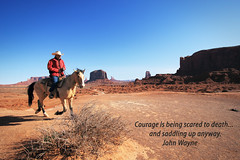 "John Wayne said ""saddle up"" (dorameulman) Tags: dorameulman johnwayne quote utah monumentvalley horse horseman rider landscape landscapephotography canon7dmark11 canon color tribute"