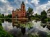 Schloss Muskau (matthias_oberlausitz) Tags: bad muskau schloss oberlausitz spiegelung teich seerosen sachsen saxony himmel wolken classic flickrfriday