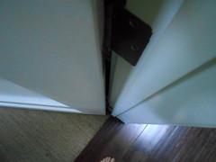 DSCN1192 (classroomcamera) Tags: abstract home homes house houses door doors doorway doorways wood wooden white brown crack cracks cracking cracked down above below up feet foot barefoot barefeet toe toes sandal sandals