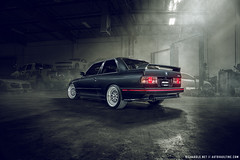BMW E30 M3 (Richard.Le) Tags: richard le automotive photography bmw e30 m3 classic car vintage european motor autovault autovaultinc west sacramento california light painting westcott ice 2 profoto b1x sony a7rii transport transportation tag hash explore follow like subscribe popular vehicle gunmetal livery wheels dark moody flickr smoke fog garage