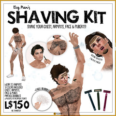 -RC- Men's Shaving Kit (Redd Columbia) Tags: rc cluster redd columbia secondlife second life fun gag gifts funny cute novelty silly salchicha county