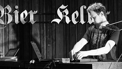 Event Horizon June 2018 04 (byronv2) Tags: eventhorizon shorelineofinfinity edinburgh edimbourg literature books poetry sciencefiction georgeivbridge frankensteins portrait june june2018 music man blackandwhite blackwhite bw monochrome author writing livre reverseengineer