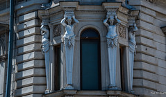 2018 - Romania - Bucharest - National Museum of Romanian History (Ted's photos - For Me & You) Tags: 2018 bucharest nikon nikond750 nikonfx romania tedmcgrath tedsphotos vignetting building sculpture shadows nationalmuseumofromanianhistory arch window