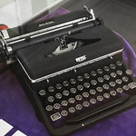 Jerry Siegel typewriter - Superman - Cleveland Public Library thumbnail