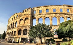 Pula Arena (aiva.) Tags: croatia istria pula hrvatska arena coliseum sunset architecture ruins ancient istra balkan amphitheater jadran adriatic antic