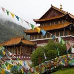 Buddhist monastery, Sichuan, China thumbnail