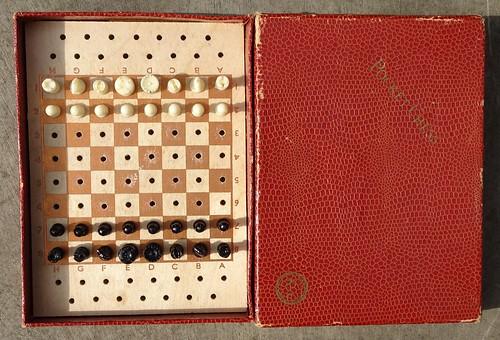 K&C Pocket Chess Set, 1950s/60s