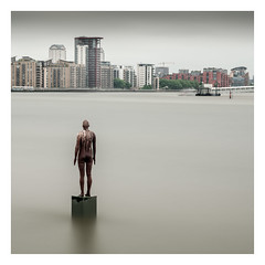 Another Time (Robgreen13) Tags: london riverthames anthonygormley anothertimexvi anothertimeanotherplace longexposure cityscape ndfilters sculpture thegrapes limehouse
